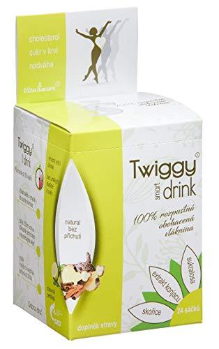 Twiggy | Appetithemmer Getränk mit 4500mg Glucomannan und starkem Zimt-Extrakt | Waldfrucht (24 Beutel)