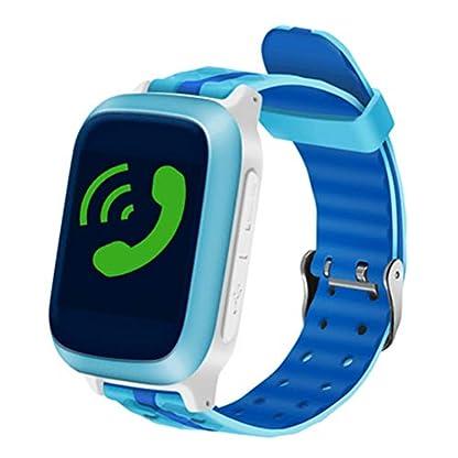 Hemobllo-Kinder-Smart-Uhr-Telefon-Blau-Wasserdicht-mit-Wifi-GPS-Positionierung