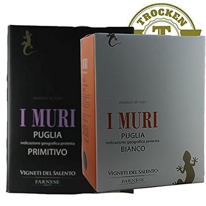 Italien-Bag-in-Box-I-Muri-Puglia-Rot-Wei-100-Liter-VERSANDKOSTENFREI