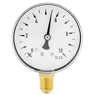 Wasser-Manometer-14-Zoll-NPT-0-10-Bar-Manometer-fr-Seitenmontage-Luft-l-Wasser-Manometer