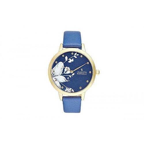 Charlotte-Raffaelli-Floral-Damenuhr-blau-CRF041