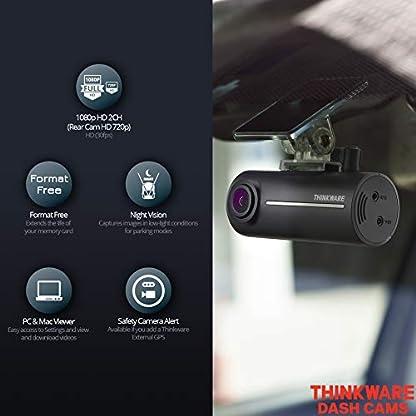 Thinkware-F100-Car-Dash-Cam-2CH-Vorder-und-Rckseite-16-GB-Voll-HD-1080p-mit-Rckfahrkamera-140-Weitwinkelansicht-Kfz-Ladegert-inklusive