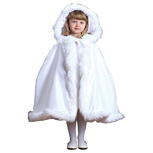 CoCogirls Mädchen Pelz Warm Winter Pelz Jacke Kids Kinder Jacken Mit Kapuze Cape Blumenmädchen Kleid Mäntel