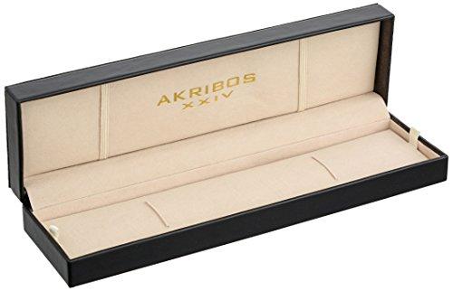 Akribos-XXIV-Herren-Conqueror-Multifunktions-Edelstahl-Schweizer-Quartz-Armbanduhr