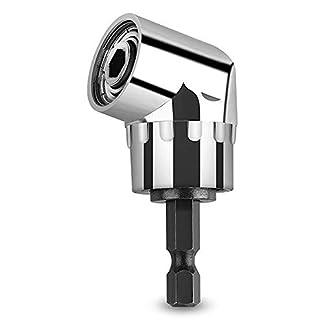 CIGOTU-Winkelbohrer-105-Grad-multifunktional-rechtwinkliger-Bohraufsatz-Schlagbohrer-Treiber-Verlngerung-635-mm-Antrieb-6-mm-Sechskant-magnetischer-Bit-Halter