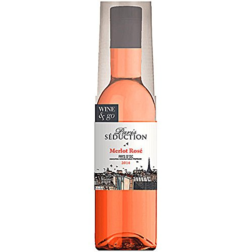 12-Flaschen-a-180ml-Paris-Seduction-Wine-Go-Merlot-Ros-in-Pet-Flasche-mit-Becher
