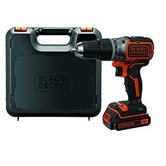 BlackDecker-Akku-Schlagbohrschrauber-18-V-15Ah-mit-brstenlosem-2-Gang-Getriebe-LED-Arbeitslicht-Anti-Rutsch-Softgriff-1-Stck-BL188K