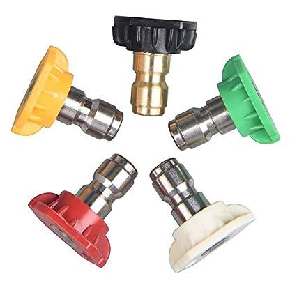 Wankd-Hochdruckreiniger-Dsen-5pcs-Hochdruckreiniger-Spray-Hochdruckreiniger-Sprhdsenspitzen-Mehrere-Grad-14-Quick-Connect-Tip-Set-25-GPM