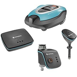 GARDENA-smart-system-Set-Mhroboter-smart-Sileno-fr-bis-zu-1000-m-Rasenflche-smart-Water-Control-fr-Bewsserung-smart-Sensor-zur-Messung-von-ua-Bodenfeuchte-smart-Gateway-19100-60