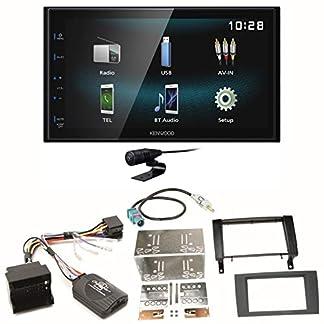 Kenwood-DMX-120BT-Bluetooth-Freisprecheinrichtung-USB-MP3-Autoradio-2-DIN-Moniceiver-Einbauset-fr-Mercedes-SLK-R171-ab-2008