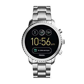 Fossil-Herren-Smartwatch-Q-Explorist-3-Generation-Edelstahl-Silber-Elegante-Smartwatch-Armbanduhr-mit-diversen-Funktionen-Features-Fr-Android-iOS