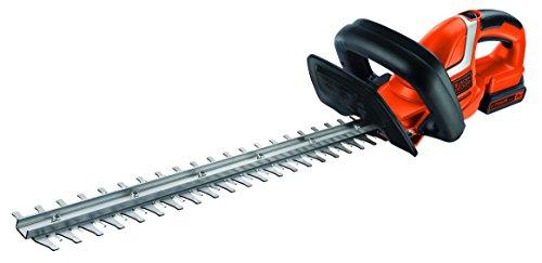 BlackDecker-Akku-Heckenschere-GTC1845L20-mit-E-Drive-Technologie-zum-Schneiden-harter-und-dicker-ste-sowie-mittlerer-bis-groer-Hecken-18mm-Schnittstrke-18V-26kg-leicht