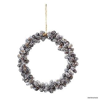 Weihnachtlicher-Kleiner-ZapfenkranzTrkranz–cm-NaturkranzWandkranz-WeihnachtskranzZapfen-HngekranzTischkranz-WeihnachtenWeihnachtsdeko