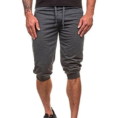 Ansenesna-Shorts-Herren-Sommer-Stretch-Sport-Hose-mit-Dehnbund-Mnner-Knielang-Gummizug-Atmungsaktiv-Einfarbig-Outdoor-Freizeithose