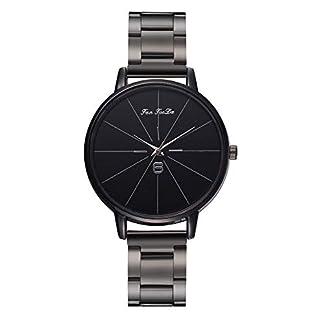 Unisex-UhrMode-Legierung-Strap-Uhren-Einfach-Schwarzes-Zifferblatt-Watch-Geschft-Sport-Quarzuhr-Proumy