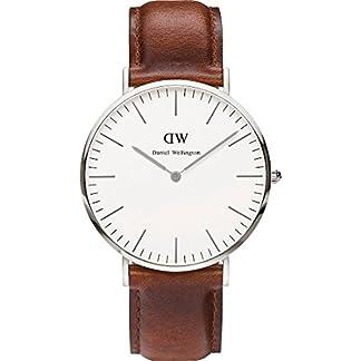Daniel-Wellington-Herren-Armbanduhr-Analog-Quarz-Leder-DW00100009