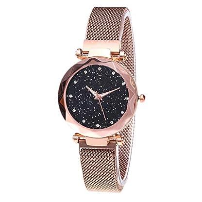 Gogagoda-Damen-Armbanduhr-Sternhimmel-Muster-Zifferblatt-Edelstahl-Mesh-Armband-Frauen-Quarzuhr