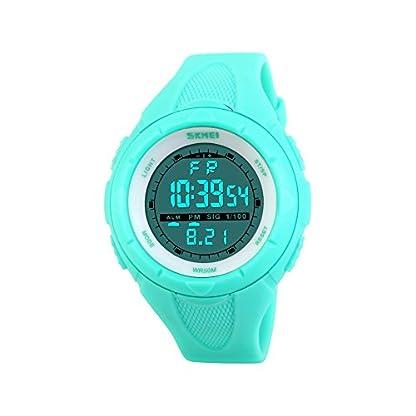 iWatch-Damen-Mdchen-Armbanduhr-50m-Wasserdicht-Silikon-Band-Digital-LED-Alarm-Kalender-Uhr-Sportuhr-Stoppuhr-Blau