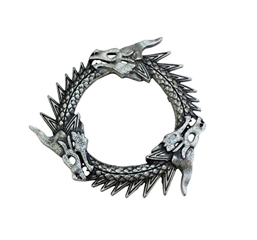 Game of Thrones. Grey Worm. 3 Drachen Antik Silber Ton Brosche