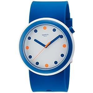 Swatch-Damen-Digital-Quarz-Uhr-mit-Silikon-Armband-PNW103