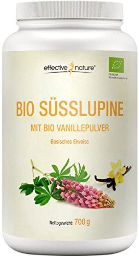 effective nature Bio Süsslupine mit Bio Vanillepulver – 700 g
