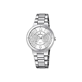 Festina-Damen-Analog-Quarz-Uhr-mit-Edelstahl-Armband-F202061