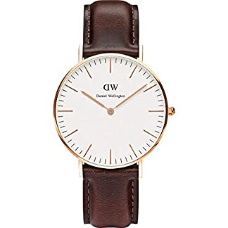 Daniel-Wellington-Damen-Uhren-Rund-Analog-Quarz-Leder-32001271