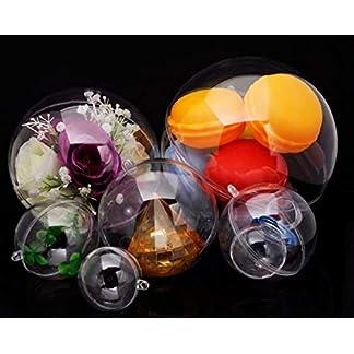 SHINNING-Glnzend-durchsichtige-befllbare-Ornamentkugeln-20-Stck-Transparente-Kunststoff-Kugeln-4-Verschiedene-Gren-fr-DIY-Badebomben-Set-und-Partydekoration