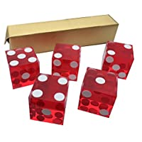 5-x-RED-NEW-PERFECT-19MM-PRECISION-CASINO-DICE-CRAPS-STUNNING