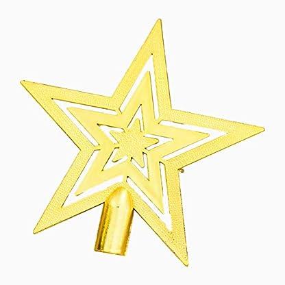Leisial-Hohles-Design-Kunststoff-Christbaumspitze-Weihnachten-Dekoration-Silber-Christbaumspitze-Stern-Weihnachtsbaum-Topper-20-20CM