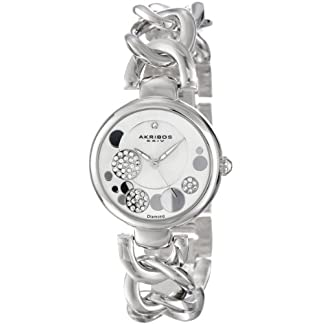 Akribos-XXIV-Damen-Lady-Diamond-Analog-Quarz-AK678SS
