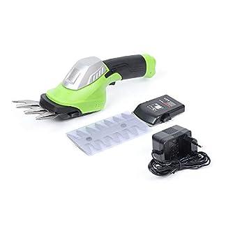 RANZIX-ABS-Rasentrimmer-Elektrischer-Akku-Heckenschere-Gras-und-Strauchschere-Grasscheren-72-Volt-1500mAh-Schnurlos-Wiederaufladbare-inkl-2-Verschiedene-Messer