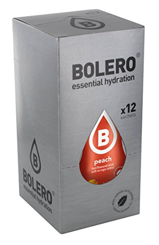 12 x Bolero Powdered Drinks Classic 9 g sachet Pfirsich