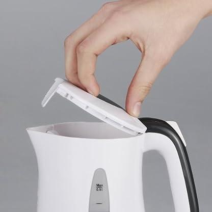 Severin-WK-3644-Reise-Wasserkocher-650-Watt-Inhalt-500-ml-inklusive-2-Kunststofftassen-mit-Lffeln-wei-dunkelgrau