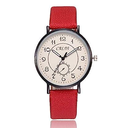 Homim-Damen-Armbanduhr-Multifarbe-PU-Leder-Armband-Schwarz-Gehuse-Einfach-Ziffern-Frauen-Uhren-Studenten-Analog-Quarzuhr-mit-Batterie