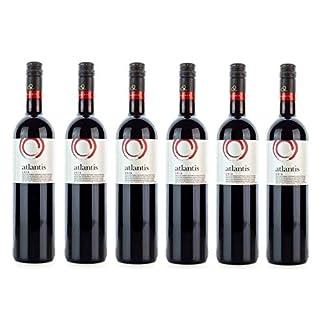 6x-750ml-Atlantis-Edel-Rotwein-trocken-vollmundig-Santorini-Argyros-griechischer-Rot-Wein-Set-2x-10ml-Olivenl-von-Kreta-zum-Test