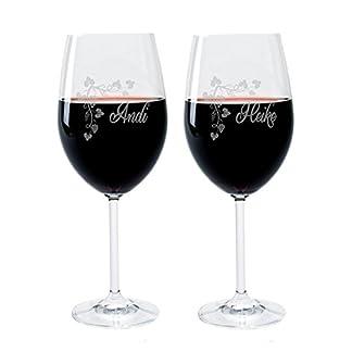 2-Leonardo-Weinglser-mit-Gravur-des-Namens-und-Motiv-Weinranke-Wein-Glas-graviert