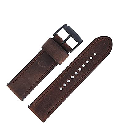 Fossil-Uhrenarmband-24mm-Leder-Braun-Uhrband-JR-1487