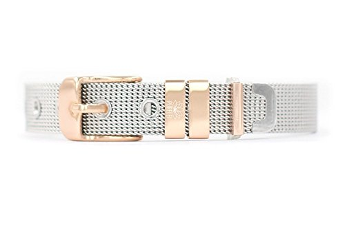 "PURELEI® ""MESH – CHARMBAND"" Charm Armband | Edelstahl Veredelt Ionisiert | Individuell mit Charms | Größenverstellbar | Handmade"