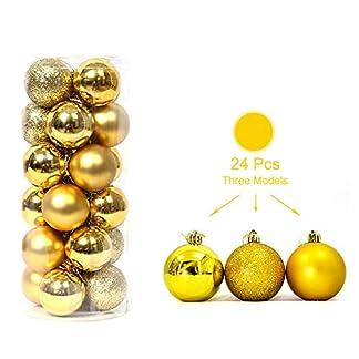 MILIER-Weihnachtskugeln-3cm-Weihnachtsdekoration-Weihnachtsbume-Hngen-Dekorative-Kugeln-Weihnachtsbaum-Dekorative-Kugeln-Urlaubsparty-Hochzeit-Dekorationen-24pcsBox