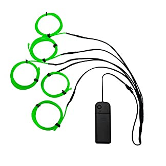 ALED-LIGHT-5-x-1M-DIY-Elektrolumineszenz-EL-Wire-Kabel-Rope-Landscape-Lighting-Weihnachten-Licht-Halloween-Party-Caf-Werbung-Sign-Beleuchtet-Flexible-Streifen-Licht-Grn-5-x-1M