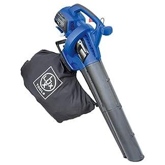 LUX-TOOLS-B-LS-3040-Benzin-Laubsauger-mit-Blas-Hckselfunktion-inkl-40-L-Fangsack-Tragegurt-Kabelloser-3in1-Laubblser-und-sauger-mit-30-cm-2-Takt-Motor-Hilfs-Rollen