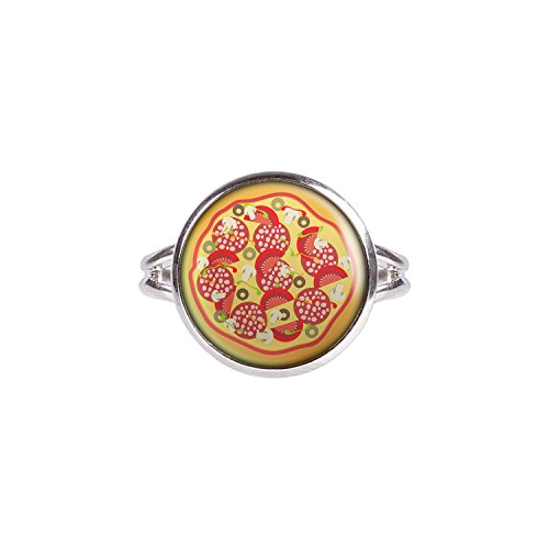 Mylery Ring mit Motiv Pizza Italien Pizzeria silber verschiedene Größen