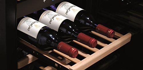 CASO-WineComfort-Touch-A-one-Design-Weinkhlschrank-fr-bis-zu-44-Flaschen-bis-zu-310-mm-Hhe-2-Zonen-5-20C-Temperaturzonen-einzeln-einstellbar-fr-Rotwein-und-Weiwein-Getrnkekhlschrank-Energieklasse-A