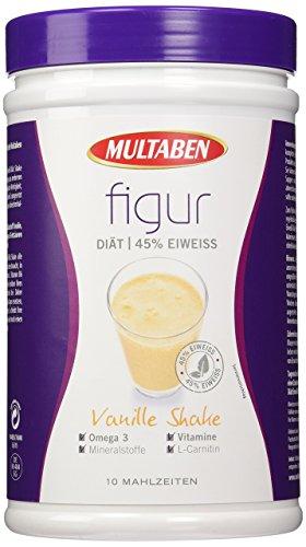 Multaben Diät Shake, proteinreicher Abnehm-Shake für eine Eiweiß-Diät, Vanille, 430 g