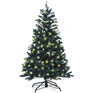 Lnartz-Naturgetreuer-knstlicher-Weihnachtsbaum-PE-Spritzguss-mit-Beleuchtung-166-LEDs-75W-Hhe-150cm-100cm-PE-BM150
