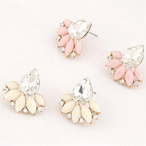Elistelle Ohrringe Blumen Muster Hypoallergen Ohrringe Für Damen