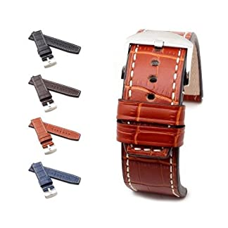 BOB-XL-Uhrenarmband-Marino-Alligator-Modell-Firenze-4-Farben-neu-Gre-Uhr-24-mm-Schliee-24-mm