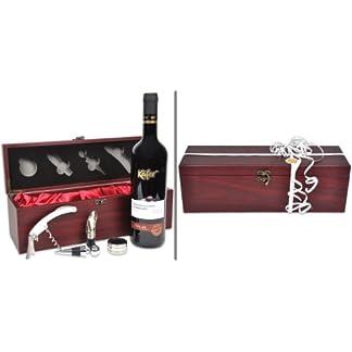 Handverpacktes-WeihnachtsgeschenkRendezvous-mit-italienischem-Rotwein-plus-Kellnermesser-in-edler-Holzbox