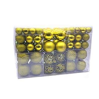 MC-Trend-100-Weihnachtskugeln-matt-glzend-Kunststoff–bis-6-cm-Kugeln-Christbaumschmuck-Baumschmuck-Weihnachten-Rot-Gold-Silber